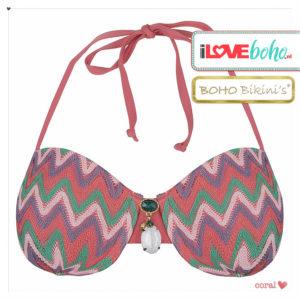 BOHO bikini's tops outlet - exclusive aztec bikinitop top - coral