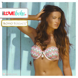 BOHO bikini's tops outlet - exclusive aztec bikinitop top - sweet pink
