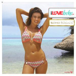 BOHO bikini's tops outlet - iconic triangle aztec bikinitop top - coral
