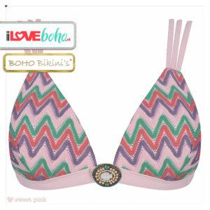 BOHO bikini's tops outlet - iconic triangle aztec bikinitop top - sweet pink