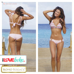 BOHO bikini's bottoms outlet - exclusive brazilian bottom - sweet pink