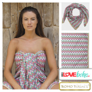 BOHO bikini's accessoires outlet - Pareo - aztec