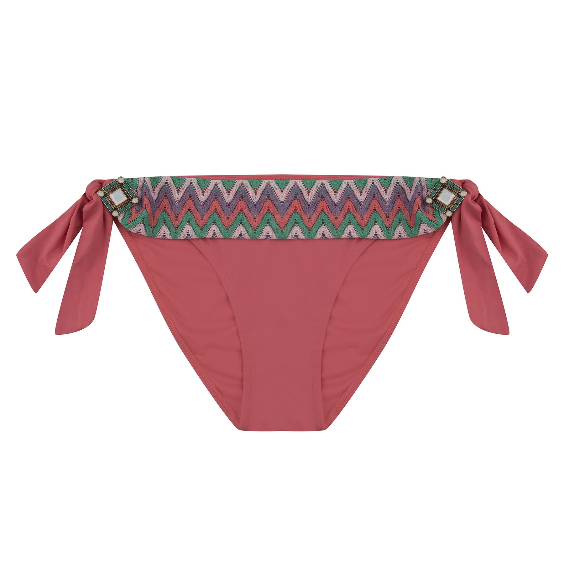 e892083dc3 BOHO bikini bottom - brilliant spacious aztec - coral - S - I Love BOHO