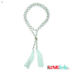 BOHO accessoires – braided ribbon – mint green