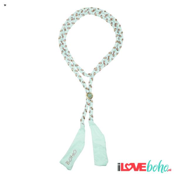 BOHO accessoires – braided ribbon – mint green