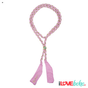 BOHO accessoires – braided ribbon – rose pink