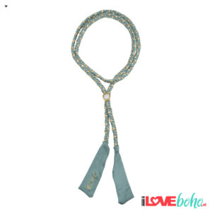 BOHO accessoires – braided ribbon – sage green