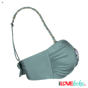 BOHO accessoires – braided bikini straps – sage green