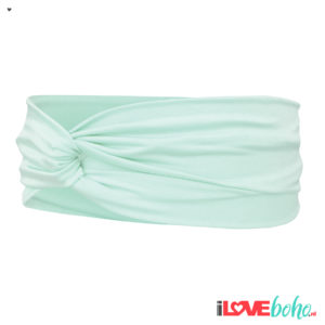 BOHO accessoires – haarband – mint green