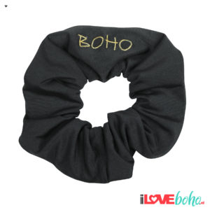 BOHO accessoires – scrunchy – charcoal grey