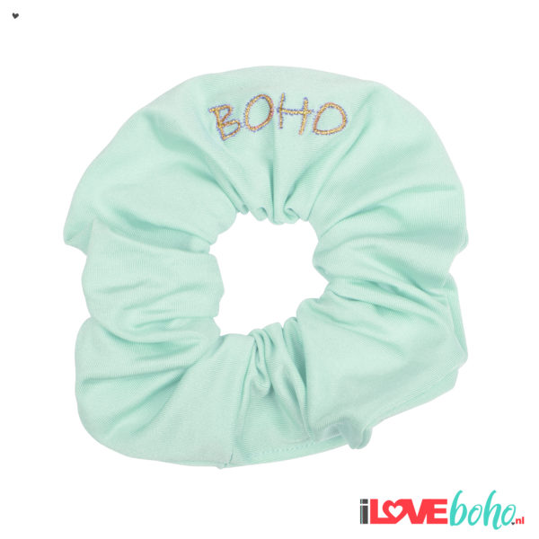 BOHO accessoires – scrunchy – mint green