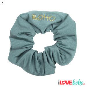 BOHO accessoires – scrunchy – sage green