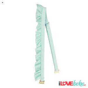 BOHO accessoires – ruffled bikini straps – mint green