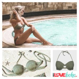 BOHO bikini top - devine - olive