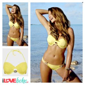 BOHO bikini top - devine - yellow - S/M/L/XL