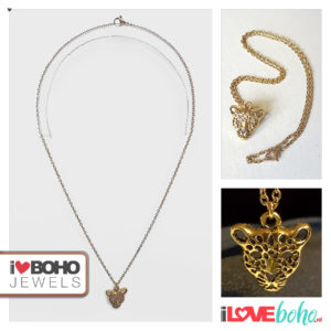 Jasseron ketting - luipaard - goud