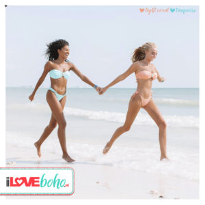 BOHO bikini's top – iconic bandeau – light coral