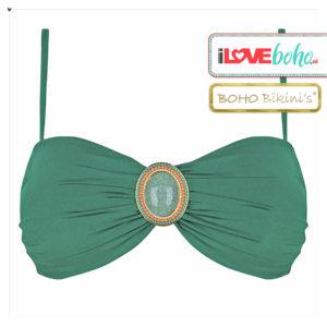BOHO bikini's top – iconic bandeau – jade groen