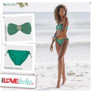 BOHO bikini's tops 2020 – iconic bandeau top – jade groen