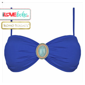 BOHO bikini's top – iconic bandeau – lapiz blauw