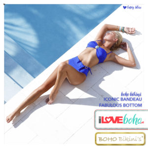 BOHO bikini's tops 2020 – iconic bandeau top – lapiz blauw