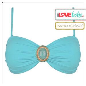BOHO bikini's top – iconic bandeau – turquoise
