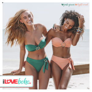 BOHO bikini's tops 2020 – exclusive bandeau top – jade groen
