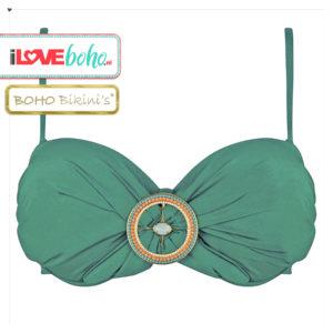 BOHO bikini's top – exclusive bandeau – jade groen