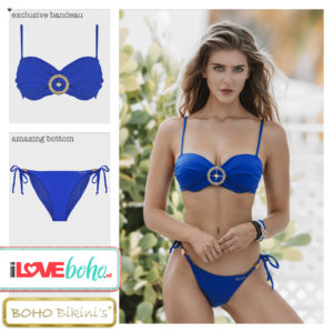 BOHO bikini's tops 2020 – exclusive bandeau top – lapiz blauw