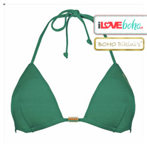 BOHO bikini's tops 2020 – stunning triangel top – jade groen