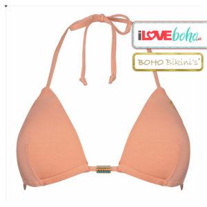 BOHO bikini's top – stunning triangel – light coral