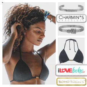 BOHO bikini's tops 2020 – stunning triangel top – onyx zwart