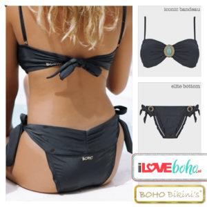 BOHO bikini's bottom – elite – onyx zwart