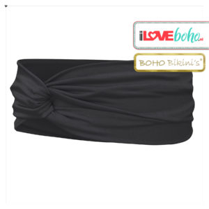 BOHO accessoires - haarband - onyx zwart