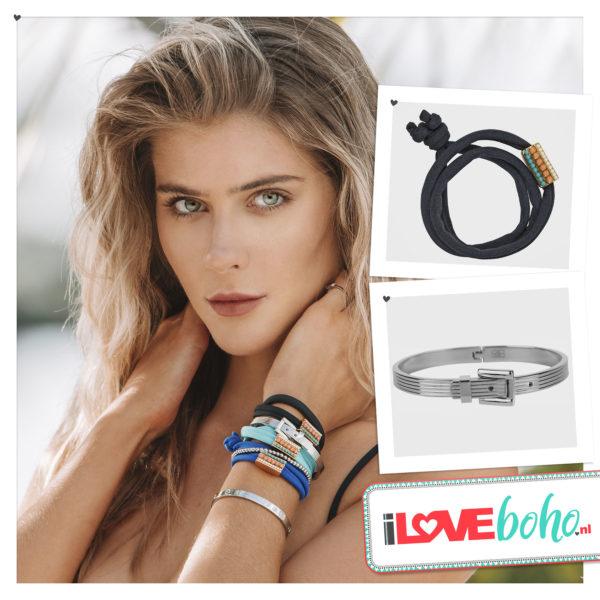 BOHO accessoires – armband – onyx zwart
