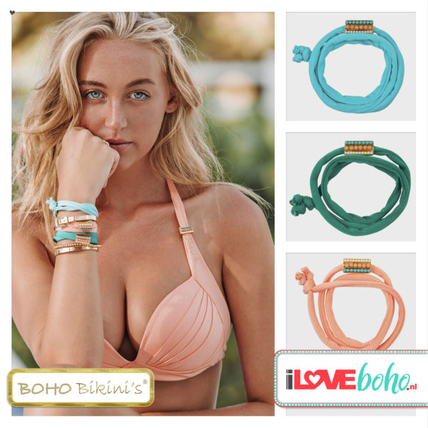 I♥BOHO JEWELS en BOHO bikini's accessoires 2020 – armband – turquoise