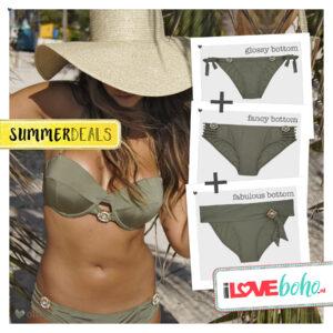 SUMMERDEAL - Bikini Bottoms XS - Olive - Fabulous, Fancy & Glossy