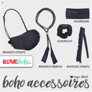 boho accessoires pakket onyx black