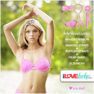 aboho accessoires pakket rose pink