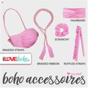 boho accessoires pakket rose pink